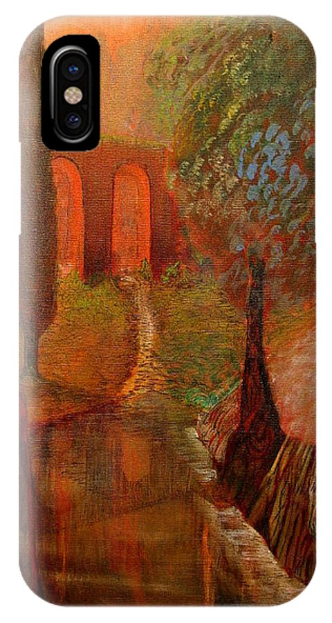 Imaginatio IPhone X Case featuring the painting Payerbach Austria by Robert Gravelin