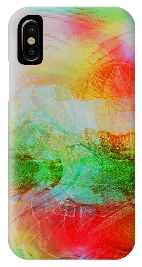 Abstract Art IPhone X / XS Case featuring the digital art Peace And Light by Linda Sannuti