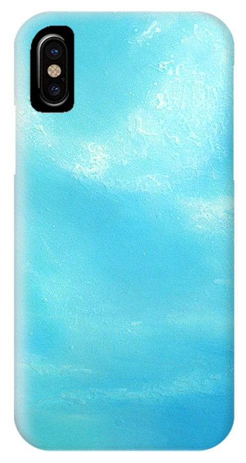 Blue IPhone X Case featuring the painting Peace by Jaison Cianelli