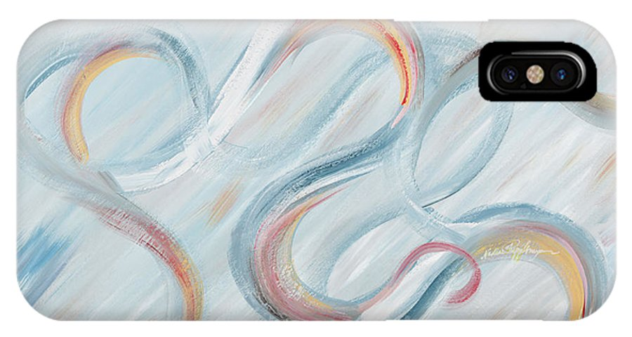 Peace IPhone X Case featuring the painting Peace by Nadine Rippelmeyer