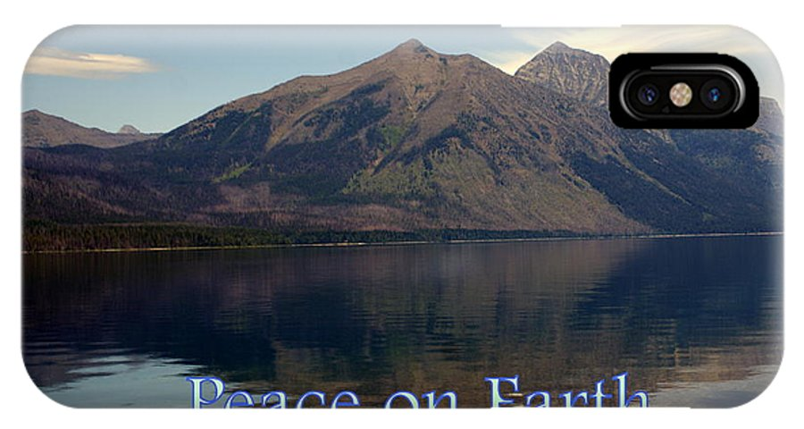 Photo Greeting Card IPhone X Case featuring the greeting card Peace On Earth 1 by Marty Koch