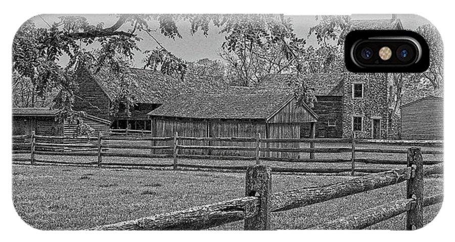 Peaceful Farm IPhone X Case featuring the photograph Peaceful Farm by Sharon Mayhak