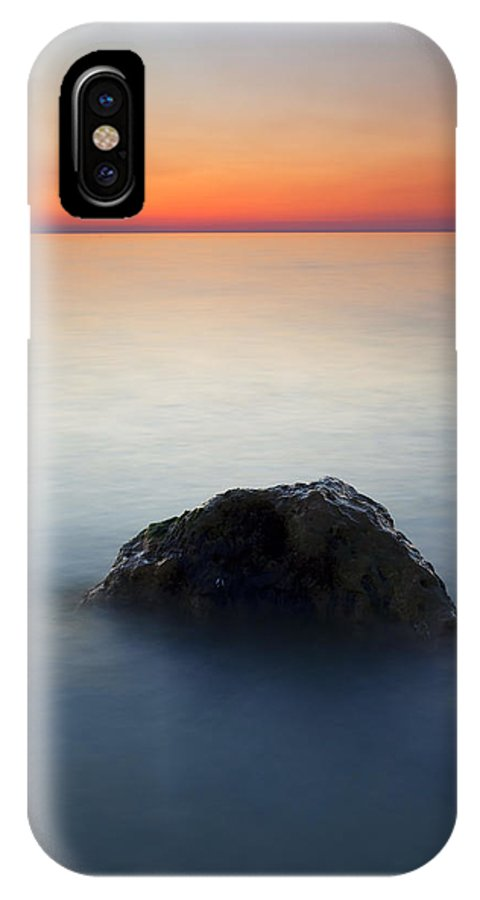 Rock IPhone Case featuring the photograph Peaceful Isolation by Mike Dawson