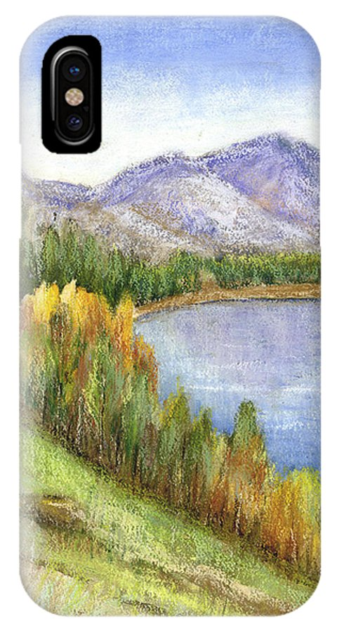 Lake IPhone X Case featuring the mixed media Peaceful Lake by Arline Wagner