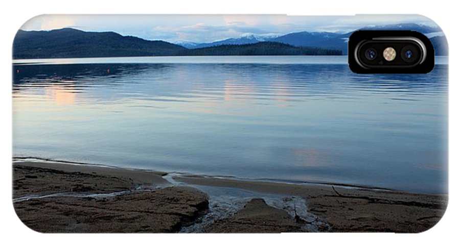 Beach IPhone X Case featuring the photograph Peaceful Priest Lake by Carol Groenen