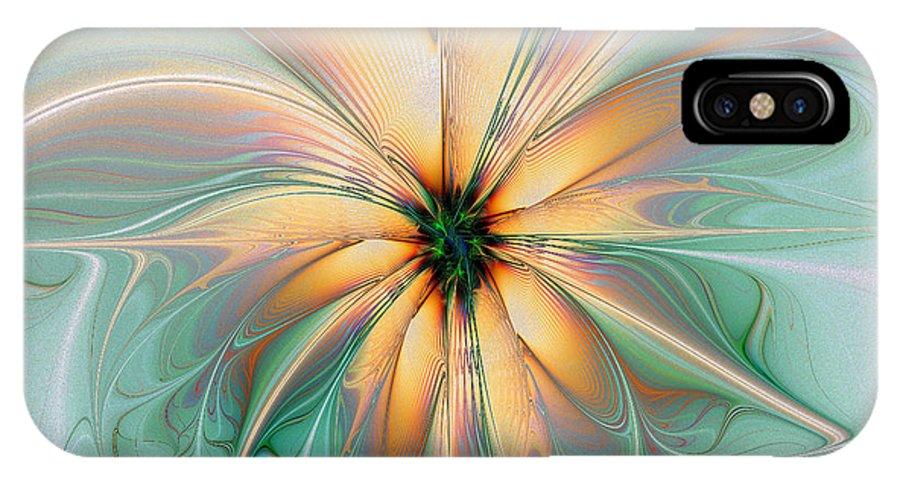Digital Art IPhone X Case featuring the digital art Peach Allure by Amanda Moore