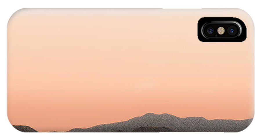 San Jacinto Mountain Range IPhone X / XS Case featuring the painting Peach San Jacintos by Stan Magnan