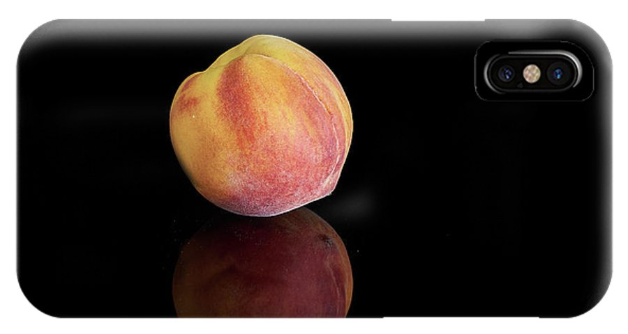 Fresh Peach IPhone X Case featuring the photograph Peachy by David Hayden
