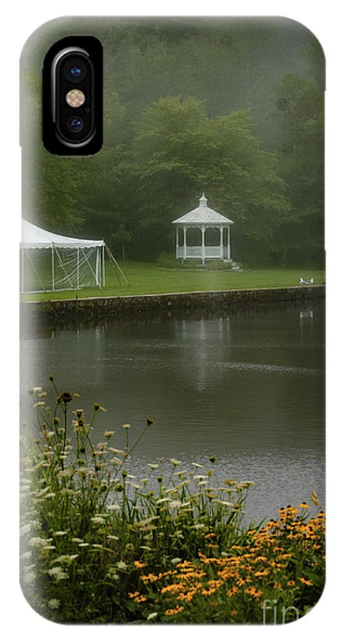 Wedding IPhone X Case featuring the photograph Peaking at the Ice Pond by Faith Harron Boudreau