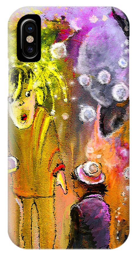 Fantasy IPhone X Case featuring the painting Pearls Pearls Pearls by Miki De Goodaboom