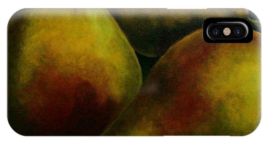 Pears IPhone X Case featuring the painting Pears by Agusta Gudrun Olafsdottir