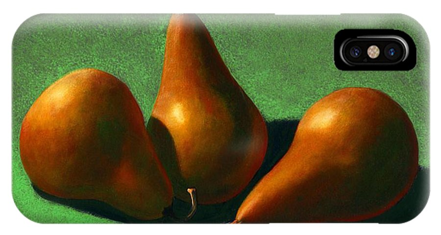 Still Life IPhone X Case featuring the painting Pears by Frank Wilson