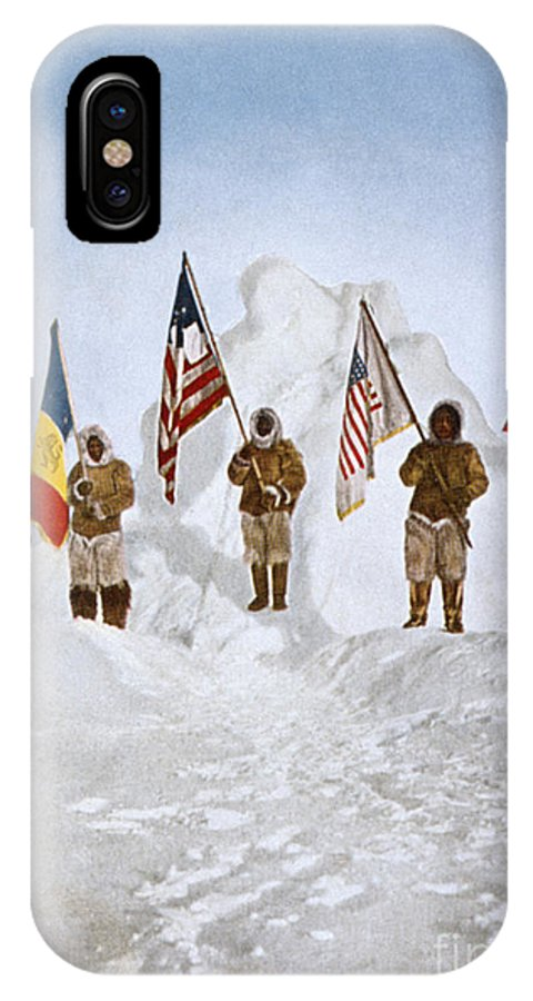 1906 IPhone X Case featuring the painting Peary Expedition, 1906 by Granger