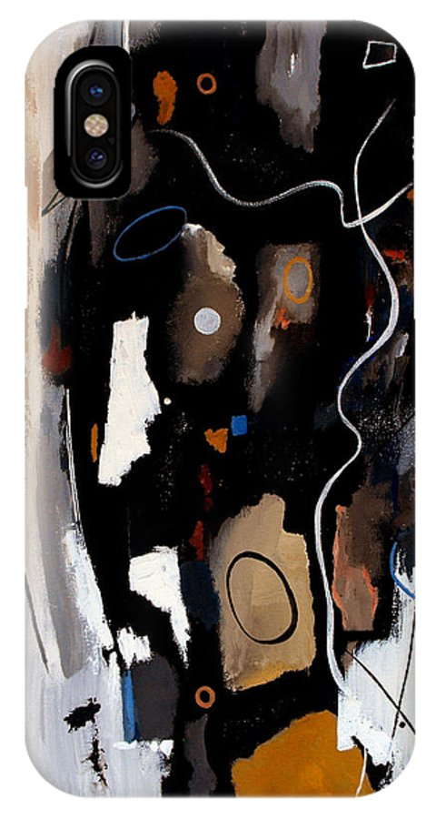 Abstract IPhone X Case featuring the painting Pebbles In The Stream by Ruth Palmer