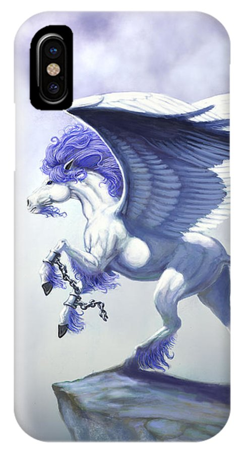 Pegasus.fantasy IPhone X Case featuring the digital art Pegasus Unchained by Stanley Morrison