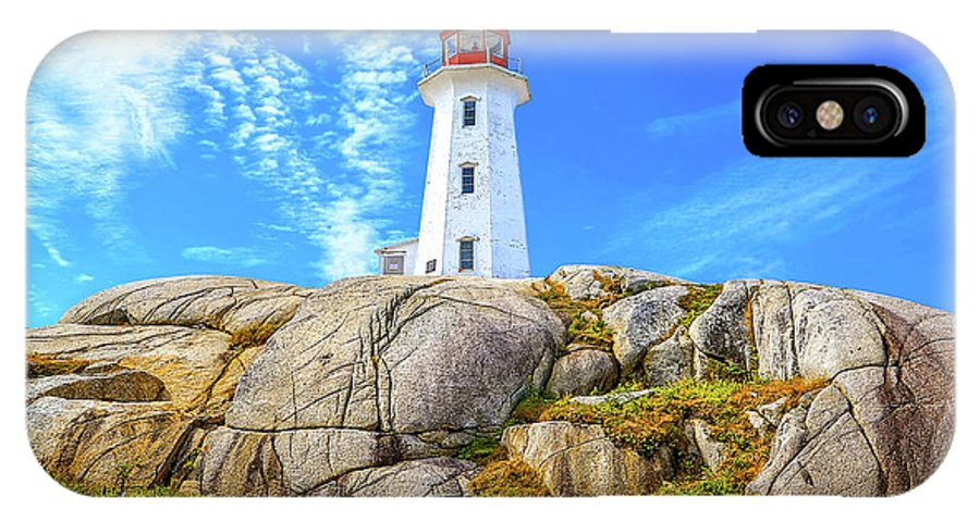 Peggy's Cove Lighthouse IPhone X Case featuring the photograph Peggy's Cove Light House by Monica Hall