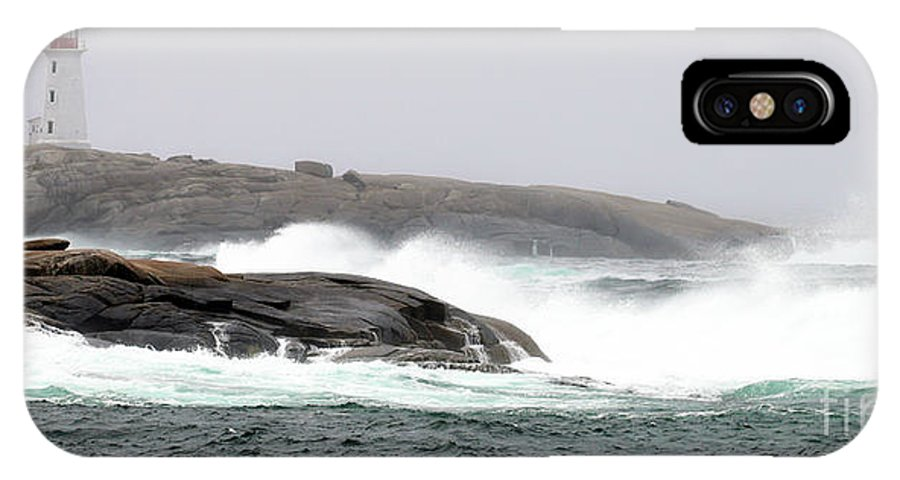 Peggy's Cove IPhone X Case featuring the photograph Peggys Cove Lighthouse 6138 by Jack Schultz