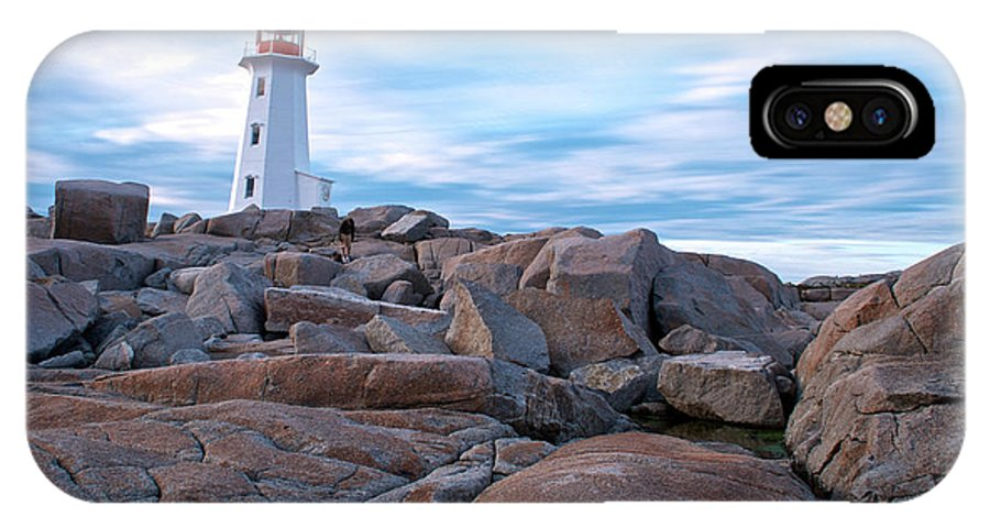 Nova Scotia IPhone X Case featuring the photograph Peggy's Cove Lighthouse by Andre Distel