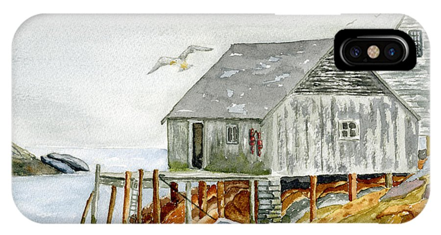 Nova Scotia IPhone Case featuring the painting Peggys Cove by Rich Stedman