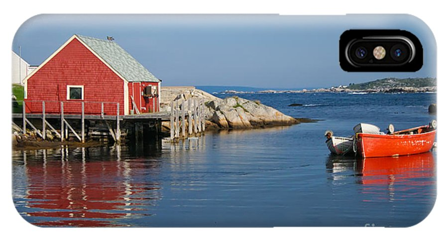 Peggy's Cove IPhone X Case featuring the photograph Peggys Cove by Thomas Marchessault