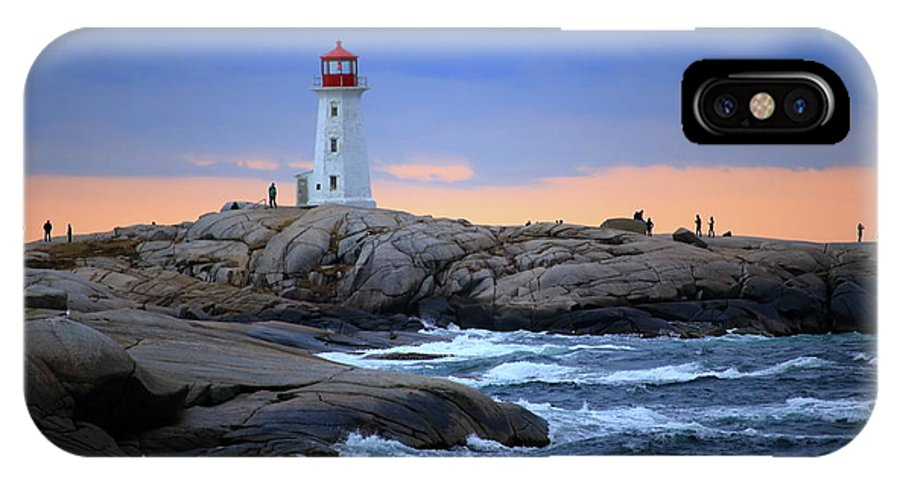 Canada IPhone X Case featuring the photograph Peggy's Point Lighthouse, Nova Scotia, Canada by Gary Corbett