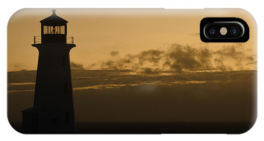 Lighthouse IPhone X Case featuring the photograph Peggy's Sunset by Richard Andrews