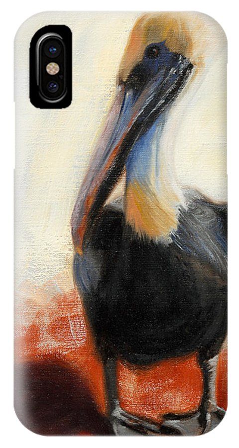 Pelican IPhone Case featuring the painting Pelican Study by Greg Neal