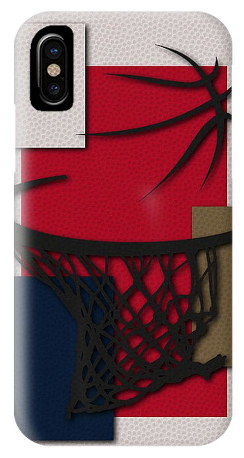 Pelicans IPhone X Case featuring the photograph Pelicans Hoop by Joe Hamilton