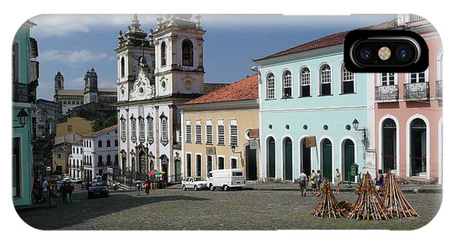 Church IPhone X Case featuring the photograph Pelourinho 1 by Kathy Schumann