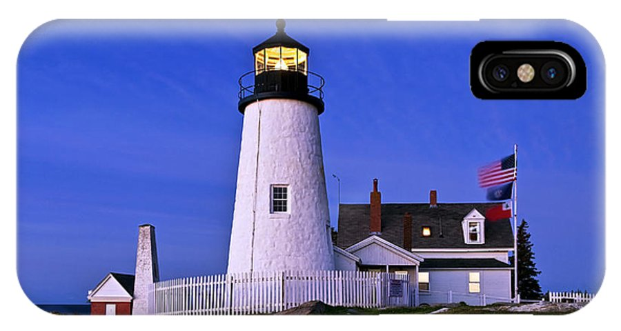 Bristol IPhone X Case featuring the photograph Pemaquid Point Lighthouse Maine by John Greim