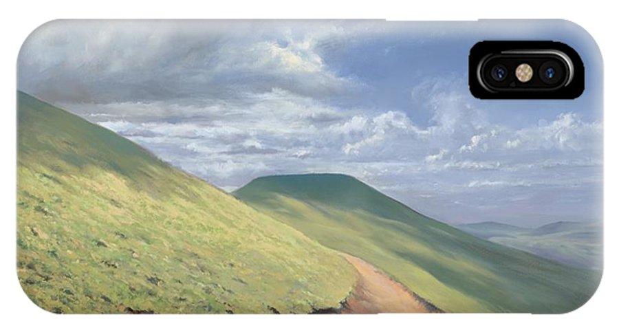 Pen Y Fan IPhone X Case featuring the painting Pen Y Fan by Richard Picton