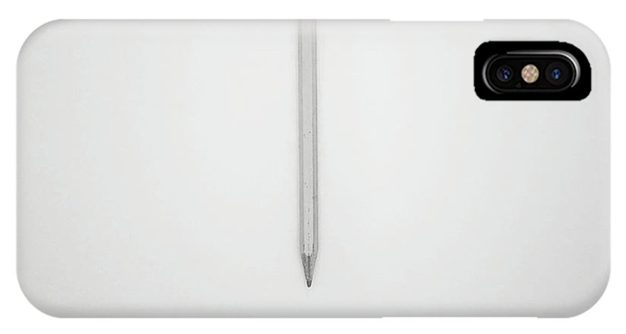 Pencil IPhone X Case featuring the photograph Pencil On A Blank Page by Scott Norris