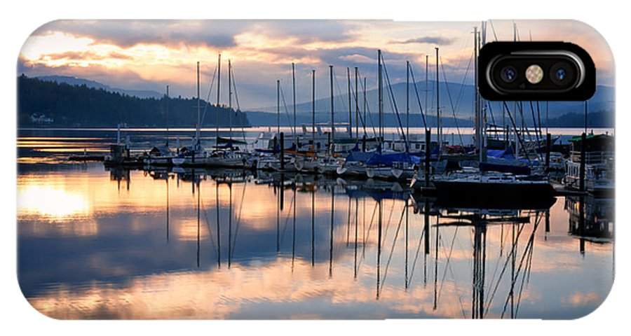 Sailboats IPhone X Case featuring the photograph Pend Oreille Sailboats by Idaho Scenic Images Linda Lantzy