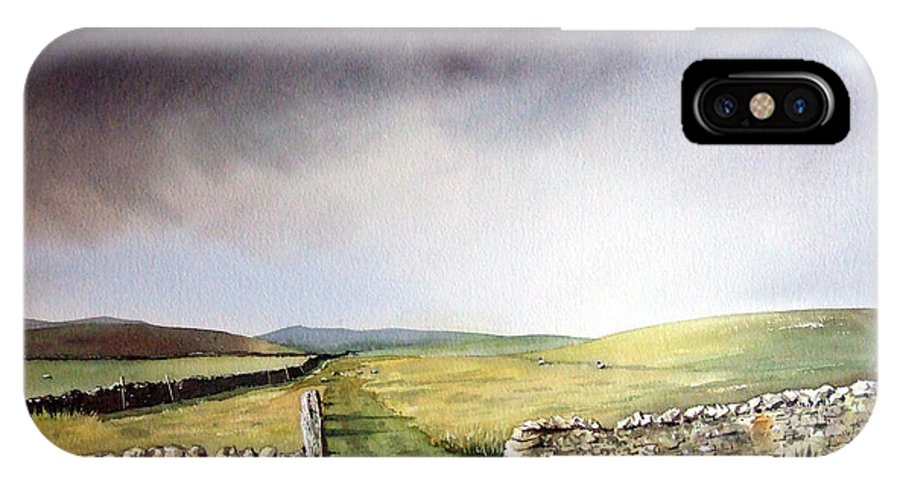 Landscape IPhone X Case featuring the painting Pennine Way by Paul Dene Marlor