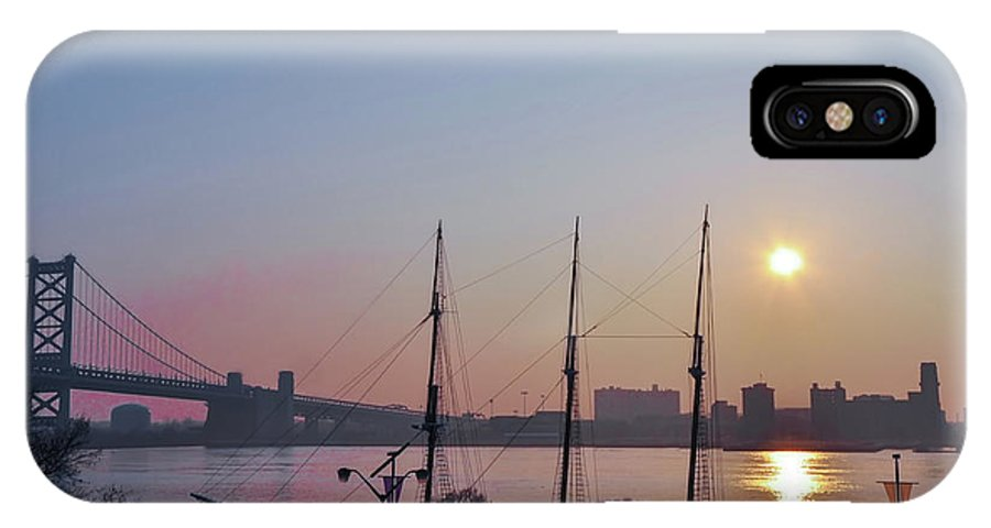 Penns IPhone X Case featuring the photograph Penns Landing Sunrise by Bill Cannon