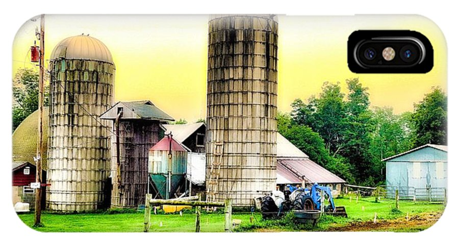 Barn IPhone X Case featuring the photograph Pennsylvania Farming by Jerry O'Rourke