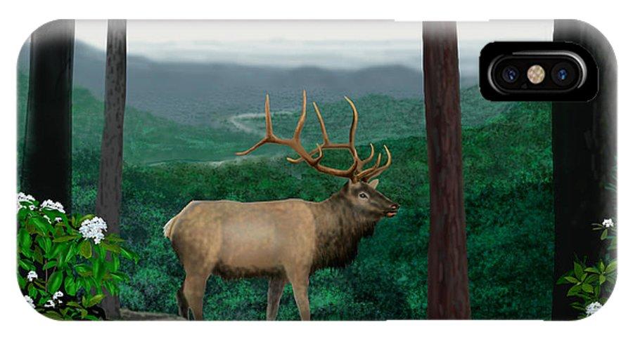 Elk IPhone Case featuring the digital art Pennsylvanian Elk by Larry Ryan