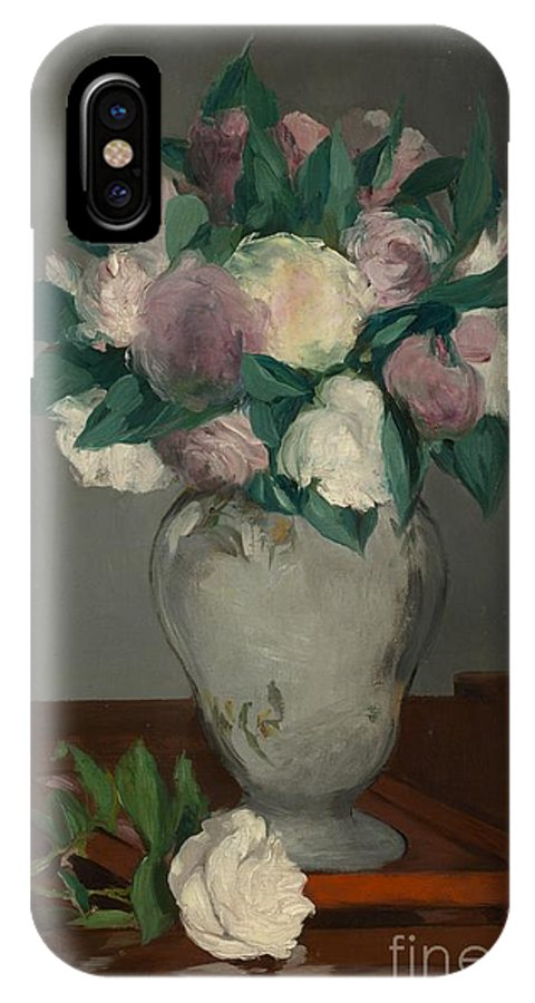 �douard Manet IPhone X Case featuring the painting Peonies by Celestial Images
