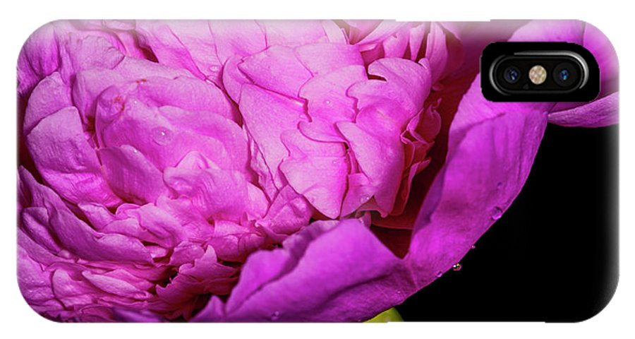 Flower IPhone X Case featuring the photograph Peony Iv by Mike Valdez