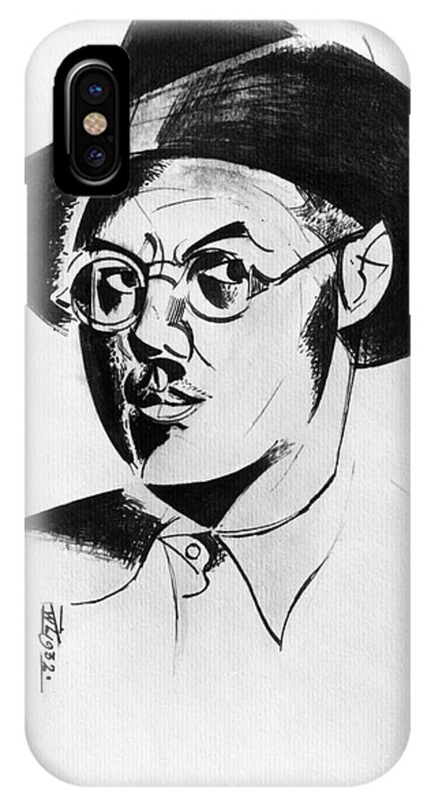 1932 IPhone X Case featuring the photograph Percy Wyndham Lewis by Granger