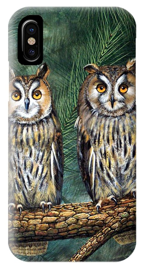 Wildlife IPhone X Case featuring the painting Perfect Strangers by Frank Wilson