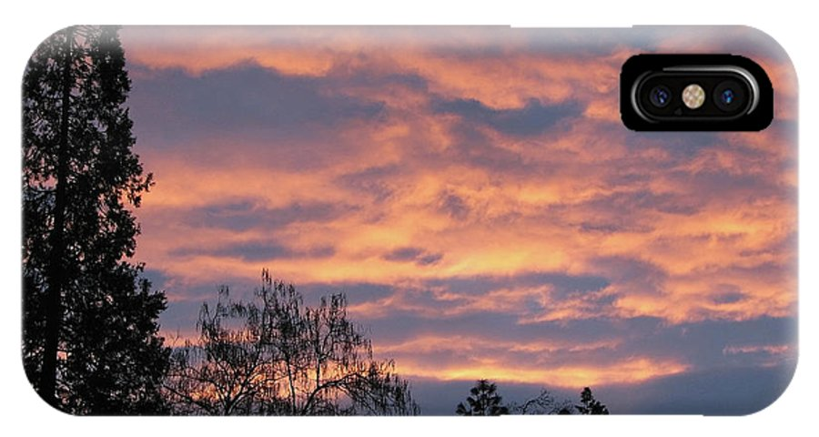 Blue IPhone X Case featuring the photograph Perrydale Sunrise by Teri Schuster
