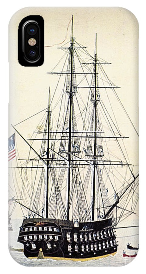 1854 IPhone X Case featuring the painting Perrys Expedition To Japan by Granger