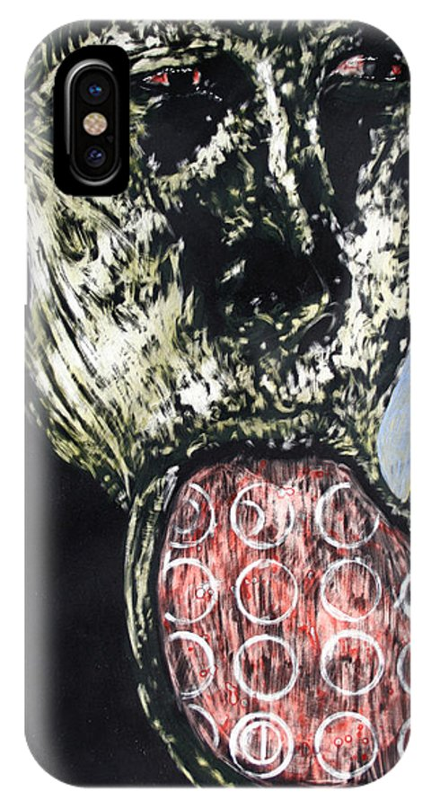 Portrait IPhone Case featuring the mixed media Persephone by Chester Elmore