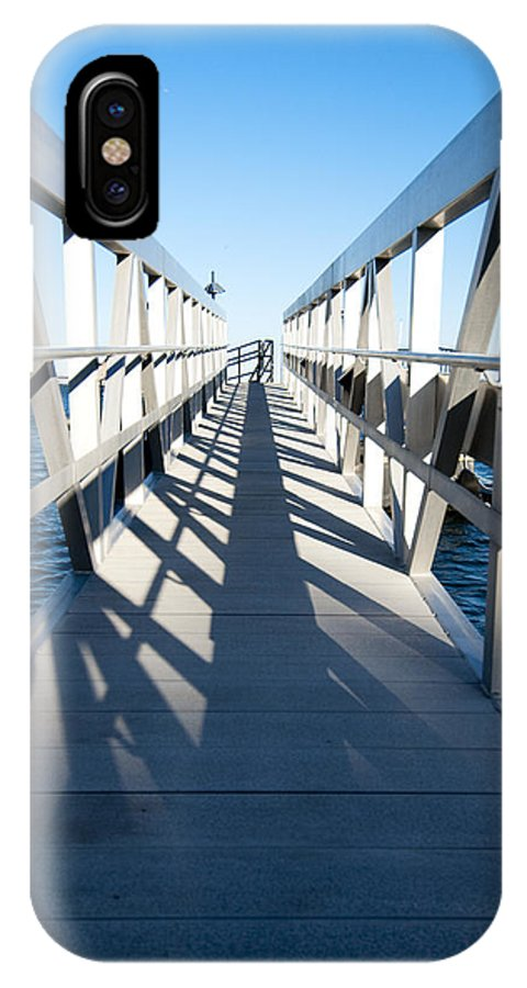 Dock IPhone X Case featuring the photograph Perspective Iv by Greg Fortier
