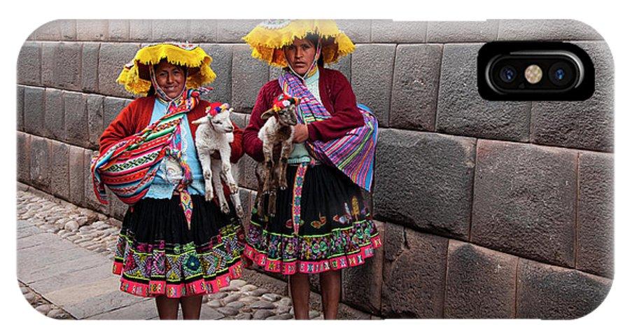 Peruvian Native Costume IPhone X Case featuring the photograph Peruvian Native Costumes by Bob Phillips