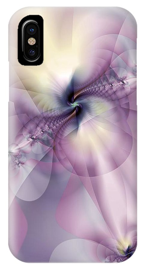 Abstract IPhone X Case featuring the digital art Petals Of Pulchritude by Casey Kotas