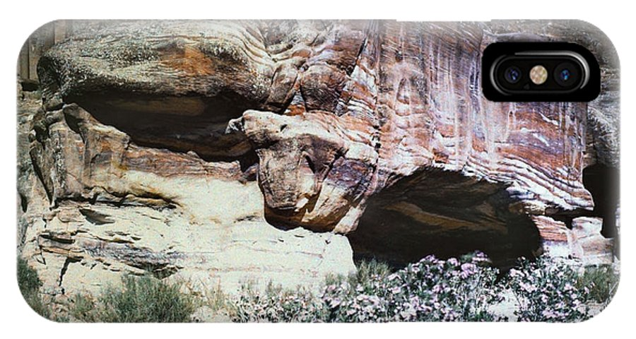 1939 IPhone X Case featuring the photograph Petra, Transjordan: Cave by Granger