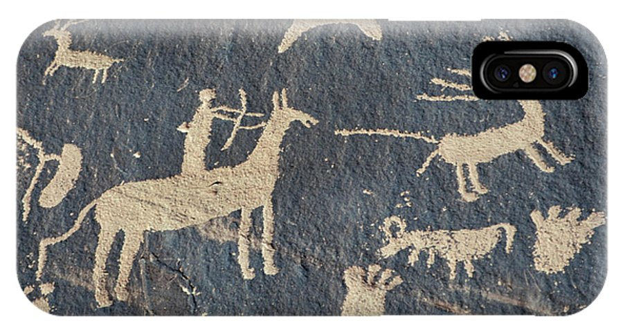 American IPhone X Case featuring the photograph Petroglyphs, Utah by Granger