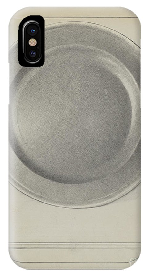 IPhone X Case featuring the drawing Pewter Plate by Charles Cullen